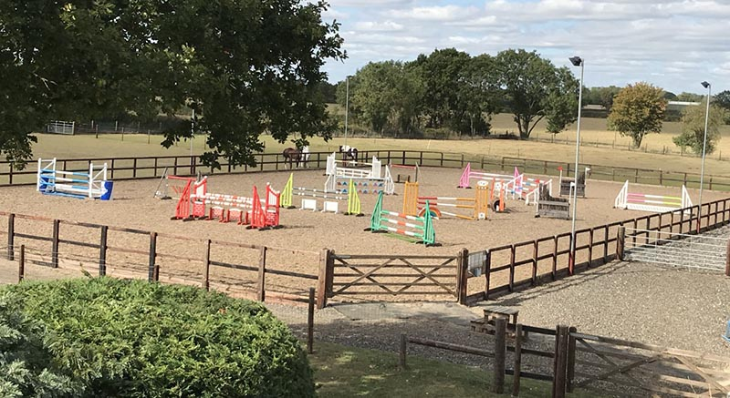 Trimming and pruning services for an equestrian centre in Claydon