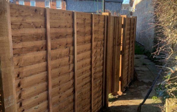 A new fence installed for an Ipswich  property that was blocking a public path